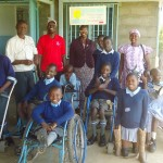 "The SOCKS organization, and our ""do something campaign"", helped pay for some of the equipment you see in this photo. Not every student in the school has physical challenges, but Joyland, with over 250 students, is one of the few in Kenya that serves as a residential school for many  children with physical, and developmental challenges."